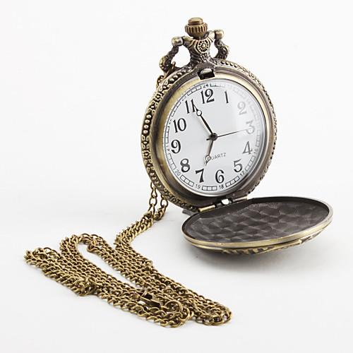 Мужская поезда сплава аналогового карман кварцевые часы (бронза)  214.000