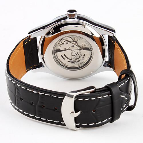 мужской авто-механический календарь черный PU Группа аналоговые наручные часы  1245.000