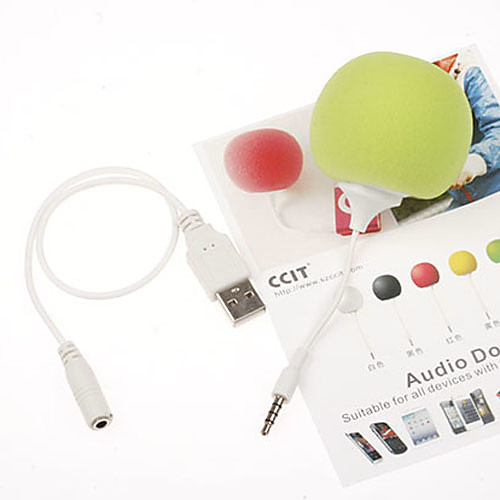 3,5 мм моды творческие мини-бар музыкальный воздушный шар спикер мило музыка мяч для MP3 MP4 телефон ПК таблетки (ассорти цветов)  341.000