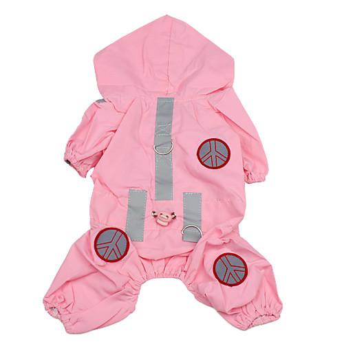 Собака Дождевик Одежда для собак Однотонный Розовый Нейлон Костюм Для домашних животных Муж. Жен. Водонепроницаемый комбинезон дождевик для собак dezzie такса большая