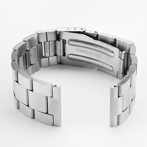 унисекс Часы из нержавеющей стали группой 20мм (серебро)  128.000