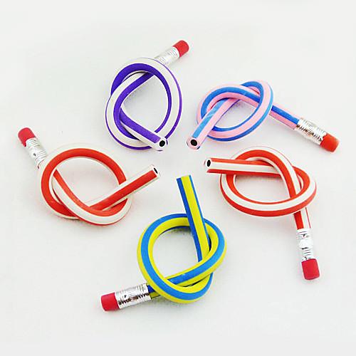 гибкий красочный мягкий карандаш с ластиком (случайный цвет)  42.000