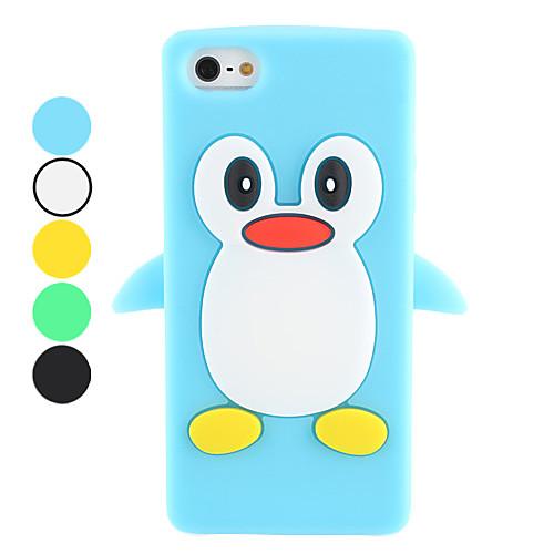 мультфильм пингвин дизайн мягкий чехол для iphone 5/5s (разных цветов)  257.000