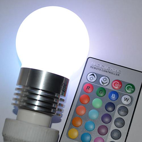 450lm E26 / E27 Круглые LED лампы G45 5 Светодиодные бусины Высокомощный LED На пульте управления RGB 100-240V