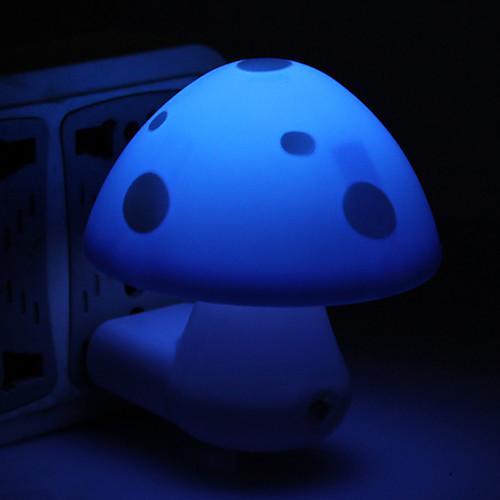 милый дизайн мини Гриб под руководством ночная лампа (220В, случайные цвета)