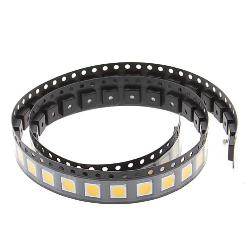 SMD 5050 0.2W 10-12LM 2800-3550K теплый белый свет LED Излучатели (3-3.4V, 50-Pack)  300.000