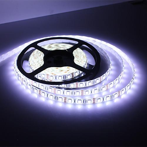 Водонепроницаемая светодиодная гирлянда 5м 45Вт 3900-4200лм 300x5050SMD белый свет (DC 12В)  642.000
