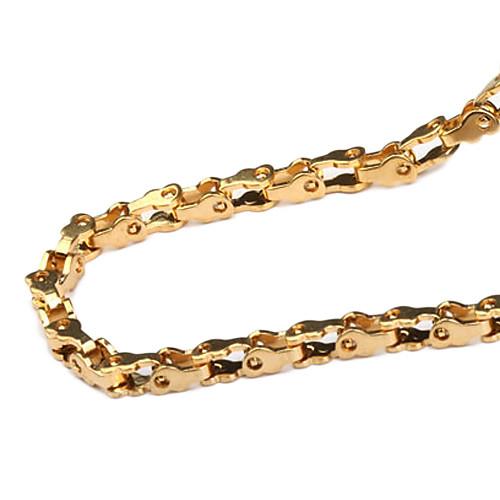 золотой цвет покрытием титана ожерелье стали  343.000