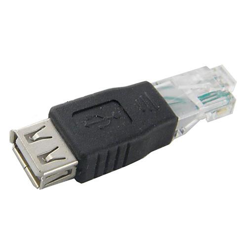usb female to rj45 мужской адаптер для сетевого / компьютер высокого качества, долговечный компьютер для пенсионеров книга