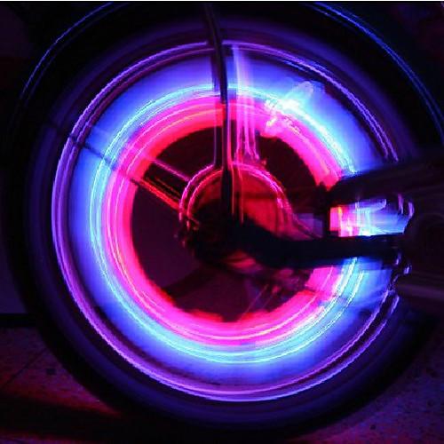 качая колесо велосипеда безопасности фары (2-шт)  128.000