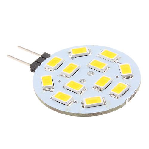 Двухштырьковая светодиодная лампа-спот G4 2W 220LM 2700K 12x5630smd, теплый белый свет (12)  128.000