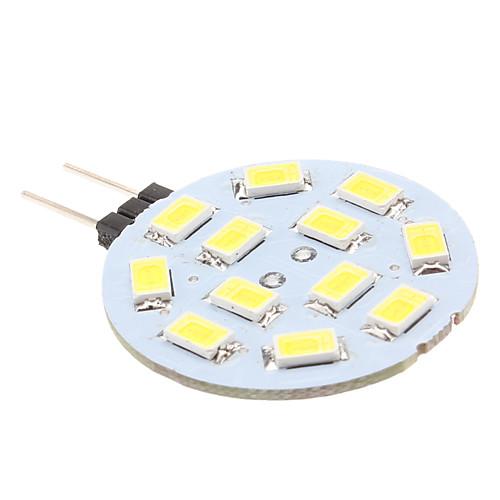 170lm G4 Двухштырьковые LED лампы 12 Светодиодные бусины SMD 5630 Естественный белый 12V