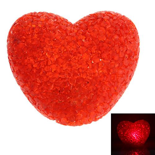 Сладкий Heart Shaped Red Light Кристалл светодиодные лампы ночь (3xLR44)