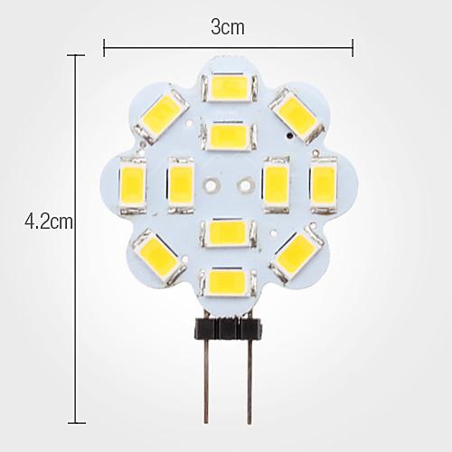 Точечная LED лампа в форме лотоса (12V), теплый белый свет, G4 3W 12x5630 SMD 240-270LM 3000-3500K  85.000
