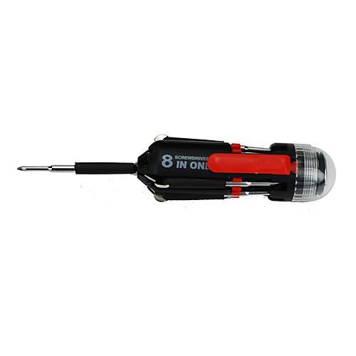 Многофункциональный Восемь отвертка с 3 LED Knife Tool фонарик  463.000