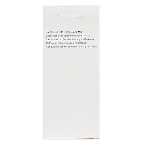 Стерео наушники-вкладыши с микрофоном и пультом управления для iPhone 5, iPad Mini (120 см)  126.000
