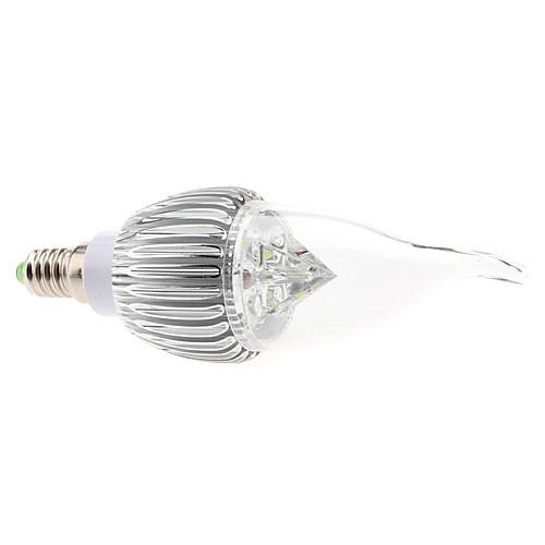 Dimmable E14 4W 320-360LM 6000-6500K Белый свет природных светодиодные свечи лампы (85-265В)