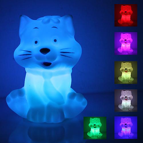 Светильник ночной светодиодный в форме улыбающегося кота (3xAG13)