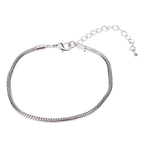 Простой стиль змеиное Серебряный браслет форма  76.000