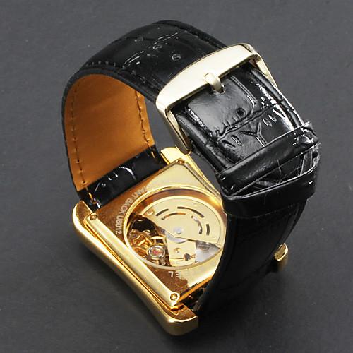 мужские часы авто-механического квадрат золотой циферблат полый гравировка  1121.000