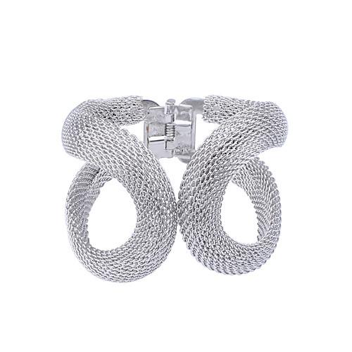 Жен. Серебрянное покрытие Позолота Браслет разомкнутое кольцо - Серебряный Золотой Браслеты Назначение Для вечеринок Повседневные