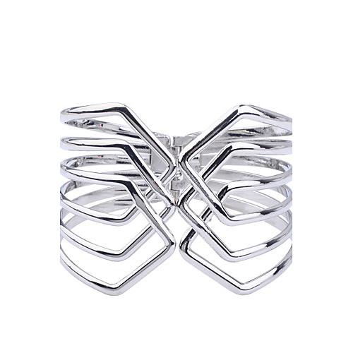 Жен. Серебрянное покрытие Браслет разомкнутое кольцо - Серебряный Браслеты Назначение Для вечеринок Повседневные