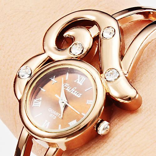 Повседневный стиль женского сплава аналогового кварцевые часы браслет (бронза)  300.000