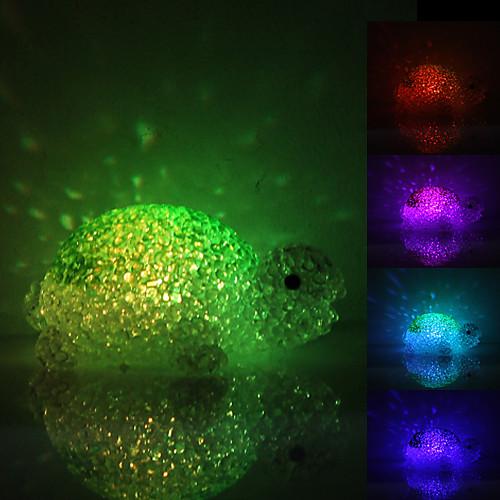 Симпатичные Черепаха Shaped Красочный свет Кристалл светодиодные лампы ночь (3xLR44)