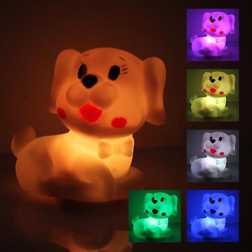 Светильник ночной светодиодный в форме милой собачки (3xAG13)
