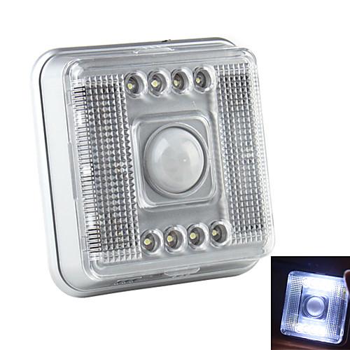 Инфракрасный датчик движения, со светодиодными лампами (2xAA), 8-LED 2-Mode Белый свет