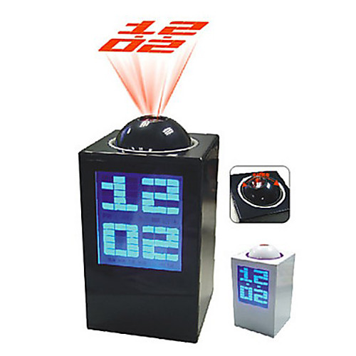 Настольные цифровые часы/будильник/календарь/термометр с проектором (разные цвета, 3хAAA)  858.000