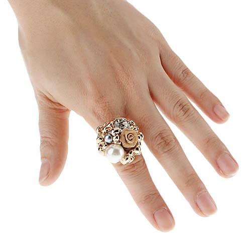 Elegant Lady Rose Pearl Ring Шипованная  128.000