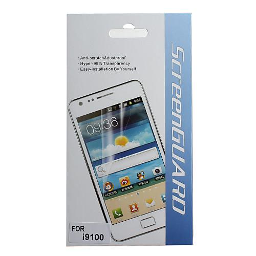 Защитные Ясный протектор экрана с Ткань для очистки для Samsung Galaxy S2 I9100  128.000