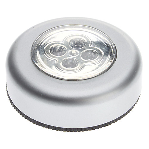 4-светодиодный Белый свет круглый светильник с сенсорным наклейки для домашнего офиса автомобилей (3xAAA)