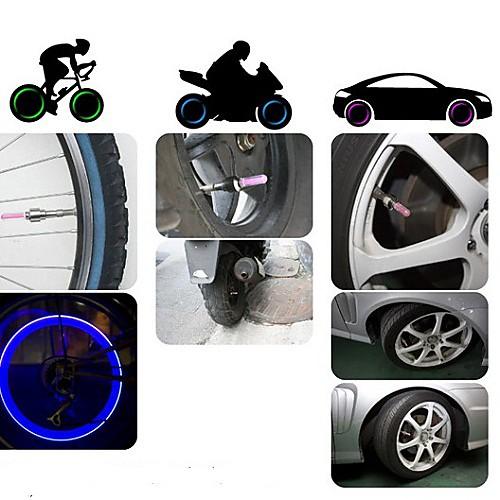 изменение цвета газового сопла колесо безопасности подсветка для велосипеда / двигатель / автомобиль (2 шт, 3xag10)  85.000