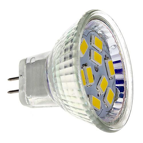 2W 200lm GU4(MR11) Точечное LED освещение MR11 9 Светодиодные бусины SMD 5730 Тёплый белый 12V