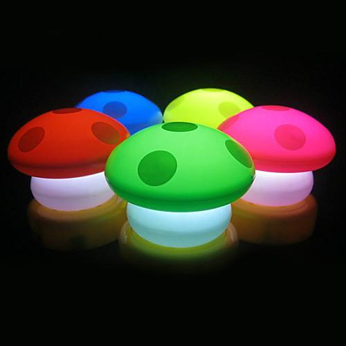 Красочные гриб формы света ночью (3xAAA, Random Color)