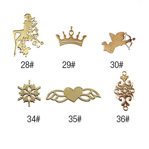20PCS Сплав 3D Finger ногтей Diy Золотые украшения № 5 (Assorted Color)  85.000