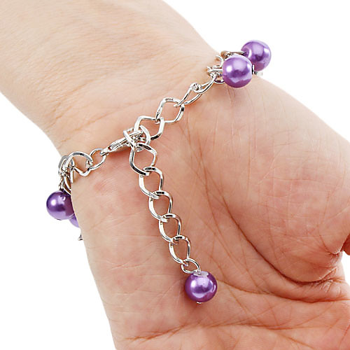 Женские аналоговые кварцевые наручные часы-браслет из сплава и пластика (фиолетовые)  214.000