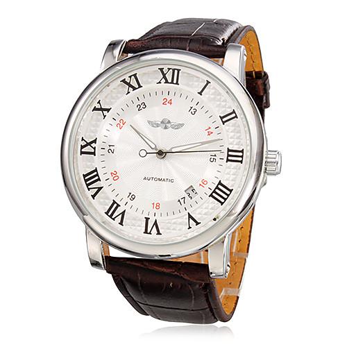 Мужские наручные механические Аналоговый Стиль PU часы с календарем (разных цветов)  1245.000