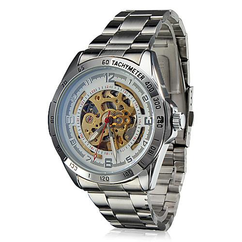 мужской авто-механического полый диск стальной ленты наручные часы  1116.000
