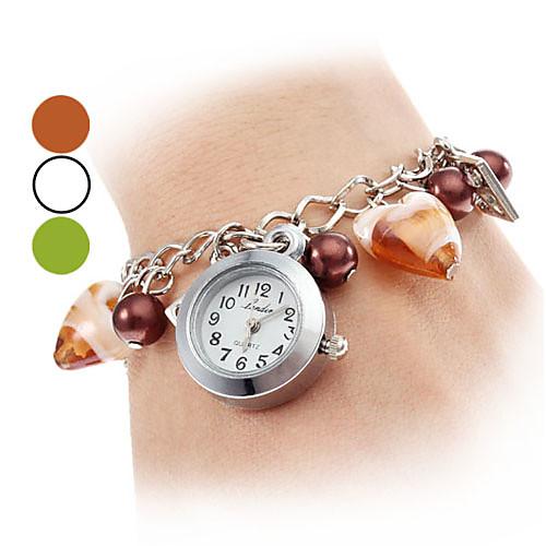 Сплав Женские Пластиковые аналоговые кварцевые часы браслет (разных цветов)  214.000