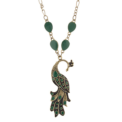 Vintage Оглядываясь назад Peacock цветные ожерелья  214.000