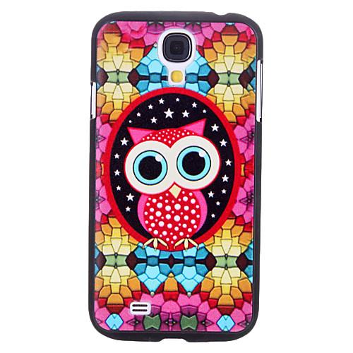 Прекрасный мультфильм Сова Pattern Прочный жесткий чехол для Samsung Galaxy i9500 S4  257.000