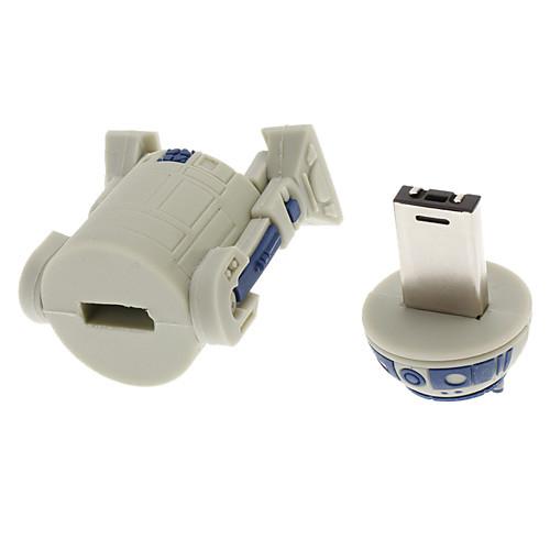 8GB Уникальный робот формы Высокоскоростной USB 2.0 флэш-диск Memory Stick диск U диск (серый)  481.000
