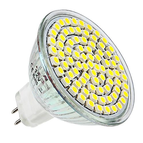 4 Вт. 300-350 lm E14 GU10 GU5.3(MR16) E26/E27 Точечное LED освещение MR16 80 светодиоды SMD 3528 Тёплый белый Естественный белый DC 12V цена