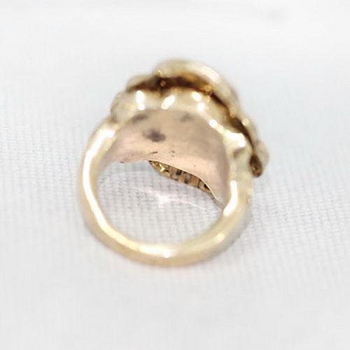 Сплава год сбора винограда Циркон Цветочный узор кольцо  214.000