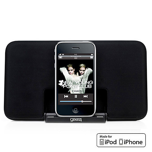 супер-тонкий портативный динамик для Ipod и iphone с 3,5 AUX (удостоверения МФО, яблоко 30-контактный порт)  1845.000