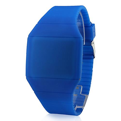 Муж. Наручные часы Цифровой LED Сенсорный дисплей Календарь силиконовый ГруппаЧерный Белый Синий Красный Коричневый Серый Розовый <br>