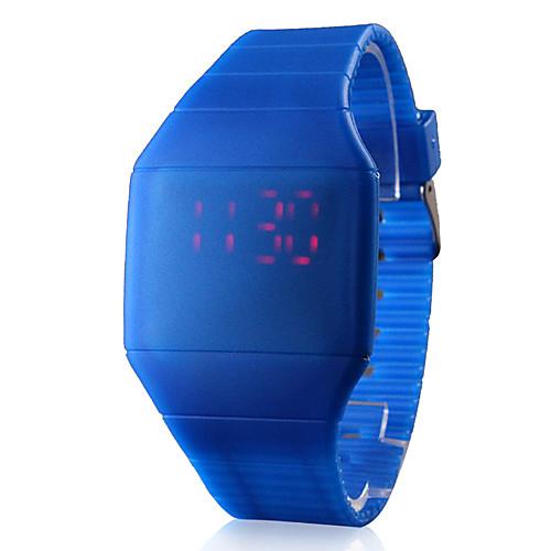 Муж. Наручные часы Цифровой LED Сенсорный дисплей Календарь силиконовый Группа Черный Белый Синий Красный Коричневый Серый Розовый от MiniInTheBox.com INT